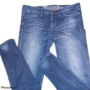 Madewell skinny jeans intentional fade